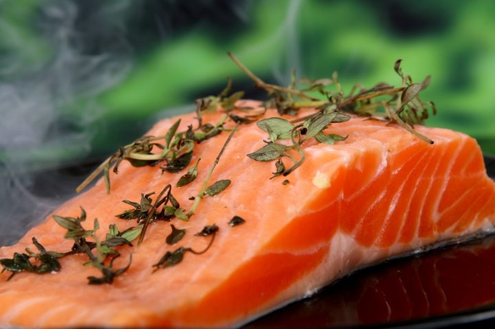 Salmon high in omega fatty acids